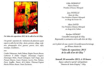 Exposition à Glisy  Installation des Stylites Thème la musique